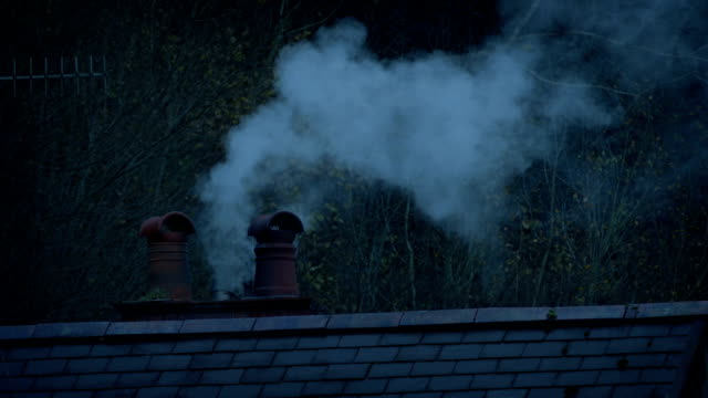 Smoke From Chimney In The Evening video