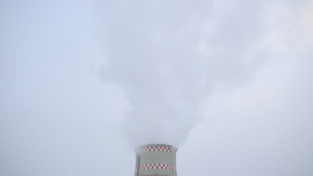 Smoke from chimney. Urban landscape. video