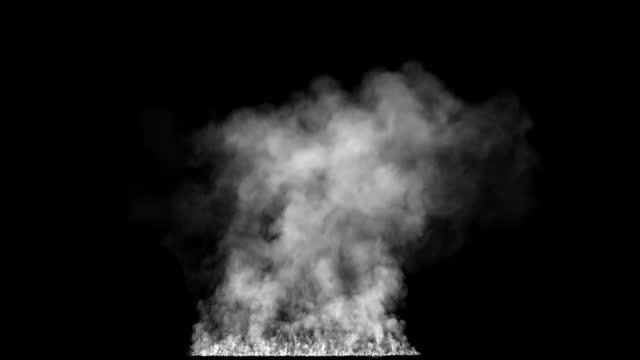 rök från eld med alfa, atmosfär speciell effekt av olika brinnande flamma - designelement bildbanksvideor och videomaterial från bakom kulisserna