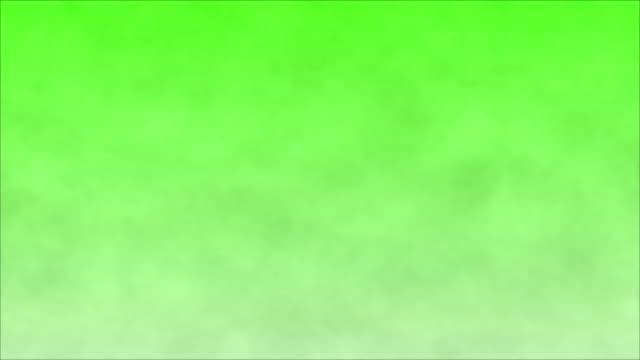 Smoke on a green screen background, chroma key