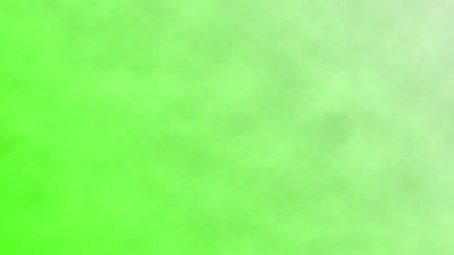 smoke on a green screen background, chroma key - para aranżacja filmów i materiałów b-roll