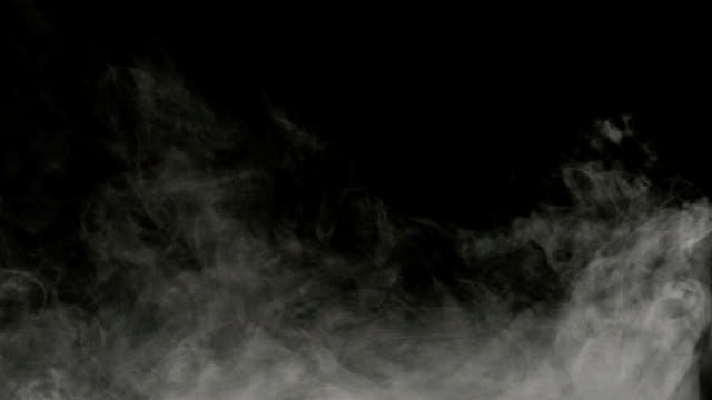 Smoke on black background Smoke on black background steam stock videos & royalty-free footage