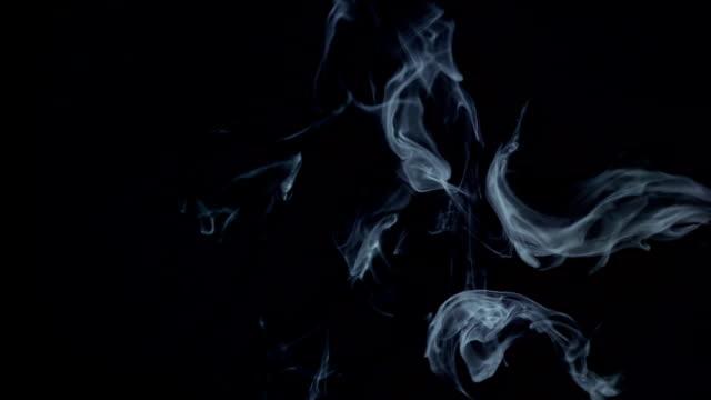 Smoke on the black background video
