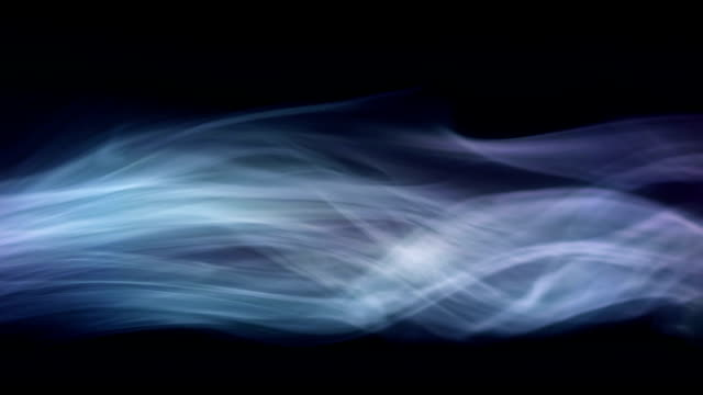 Smoke on the black Stream of smoke. Smoke is moving from left to right on black background. Seamless loop. Vapour. condensation stock videos & royalty-free footage