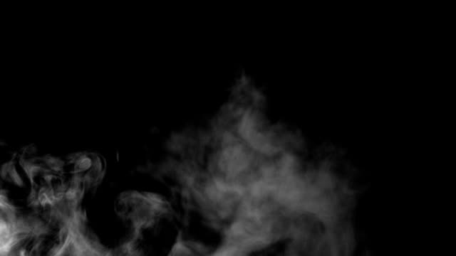 Smoke Over Black Background (50fps) video