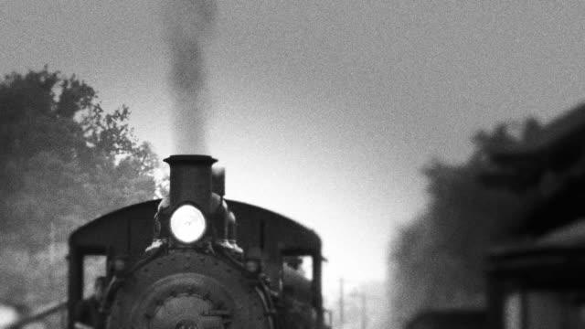 Smoke Stack of Steam Engine Train video