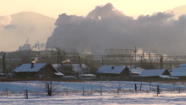 smoke smoke winter siberia stock videos & royalty-free footage