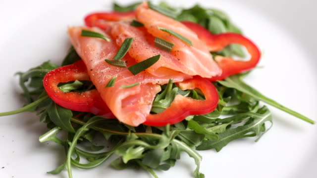 Smoked Salmon With Arugula Salad video