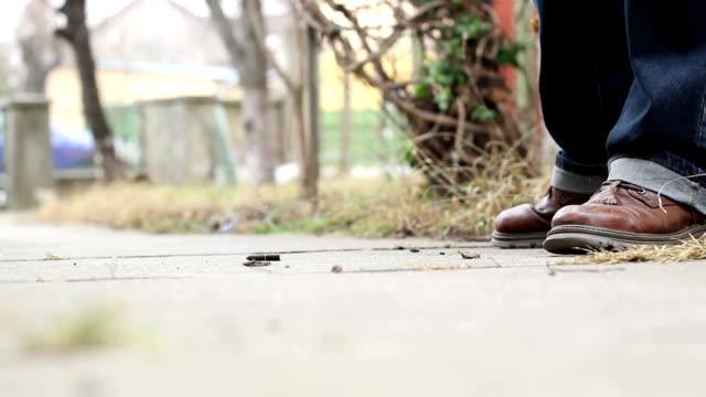 Smoker Treads over Cigarette video