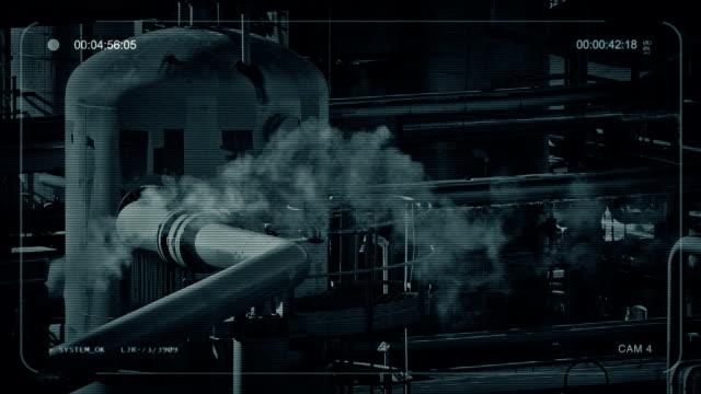 Smoking Pipes At Industrial Facility video