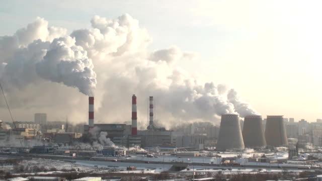 smoking power plant video