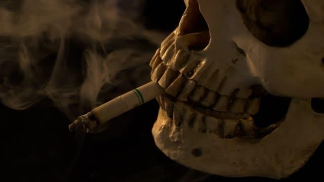 smoking untill dead.no smoking day concept.