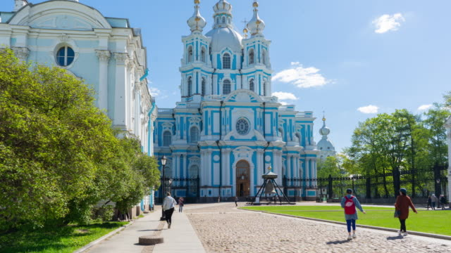 smolny cathedral, St. Petersburg, russia video