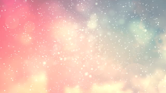 Smooth Abstract Background Animation With Particle Effects