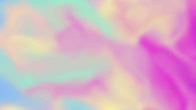 Smooth gradient blurred shiny waves abstract holographic  iridescent motion background.