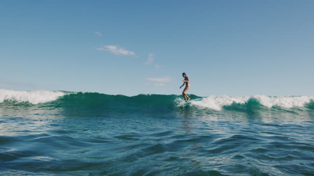 Smooth longboarding surf style video