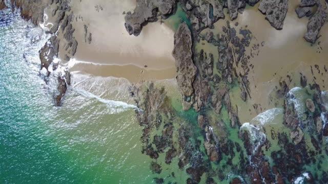 Smooth zoom in a shoreline. video