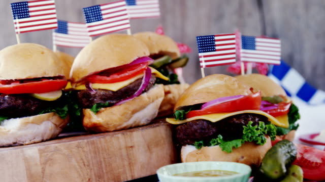 Snacks decorated with 4th july theme video