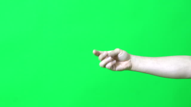 Snap The human hand is snapping on the green screen. finger stock videos & royalty-free footage