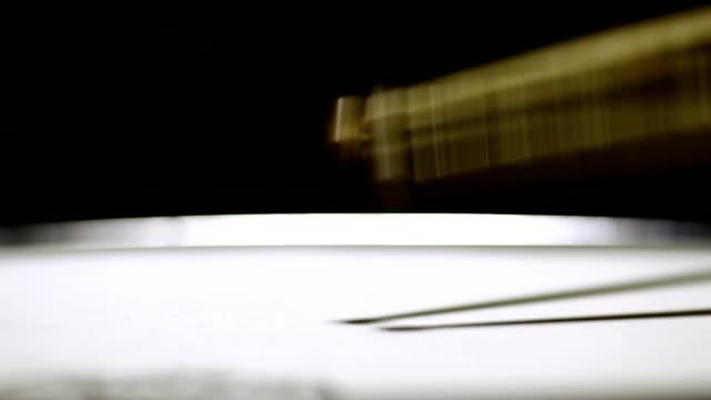 Snare drum and drum sticks video