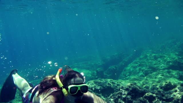 SLOW MOTION: Snorkeling in Adriatic sea video