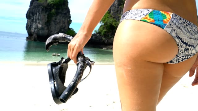 Snorkelling girl in Thailand video