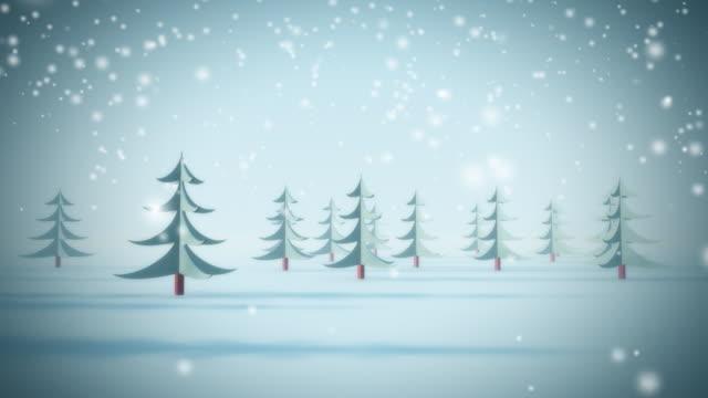 Snow background. Loop video