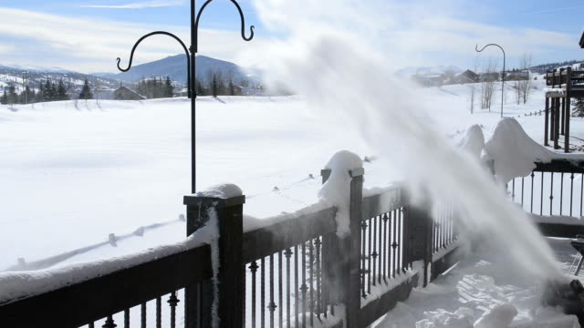 Snow Blowing on a Deck video