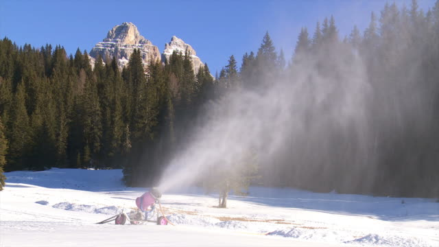 Snow Cannon In the Dolomties Mountains video