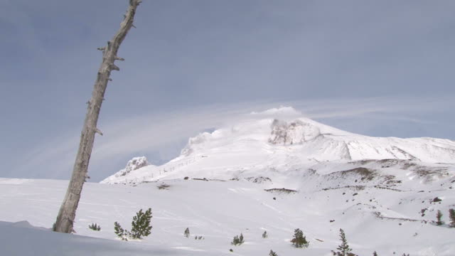 Snow Cloud over Mount Hood Time Lapse