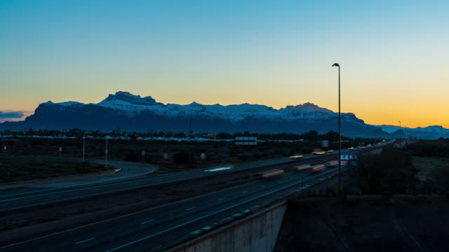 Snow Covered Superstition Mountains