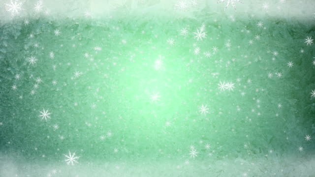 snow fall ice background green video
