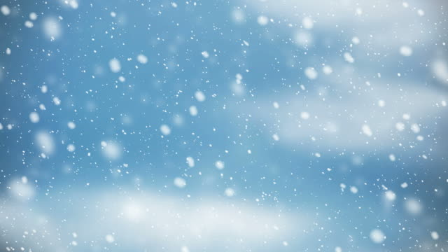 snow falling on blue sky with cloud in the winter christmas background stock video - cena di natale video stock e b–roll