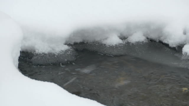 Snow Flakes and Icy Water video