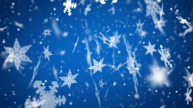 Snow Flakes Background Loop - Large Blue (Full HD Video) video