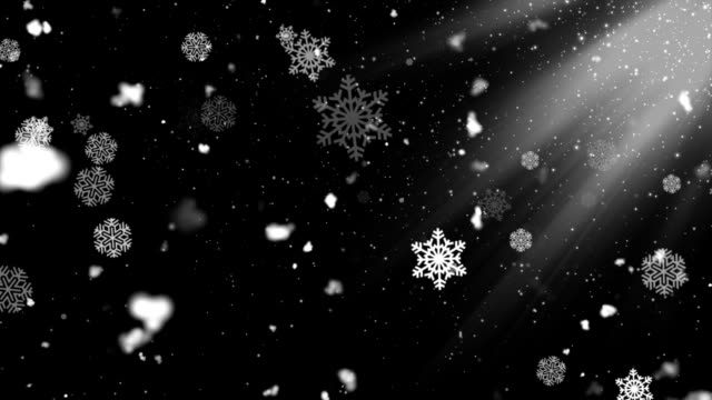 Copos de nieve, sol 2 - vídeo