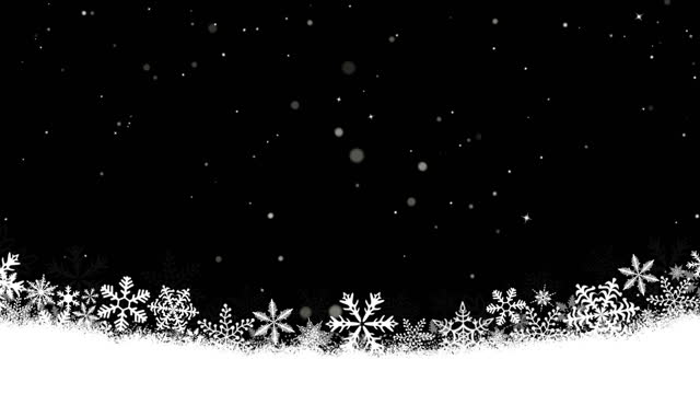 Snow Frame with Glitter effect (Loop 4k)