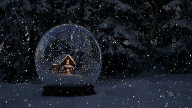 snöglob - 4k | loopable - snöflinga bildbanksvideor och videomaterial från bakom kulisserna