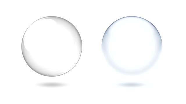 vídeos de stock, filmes e b-roll de globo de neve + chroma key + neve alfa - esfera