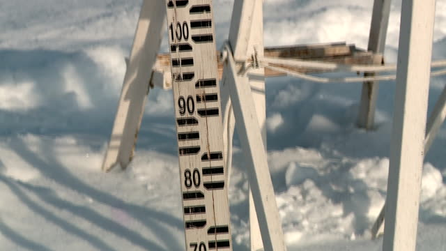 snow in Russia in winter