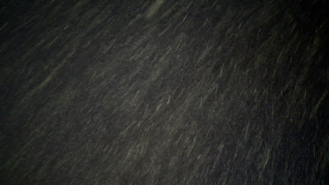 Snow Isolated Falling on Night Sky video