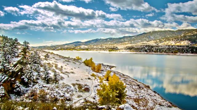 Snow landscape video