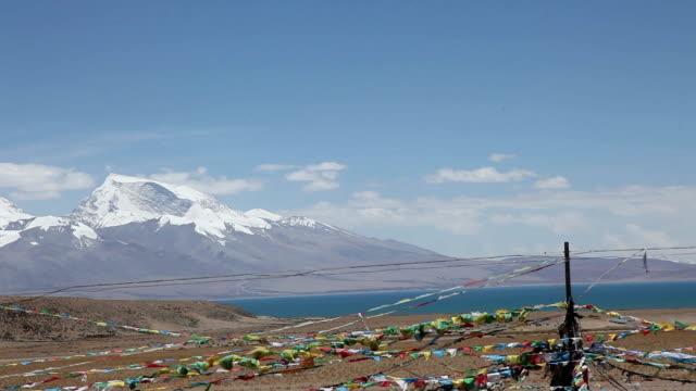 snow mountain and lake tibet
