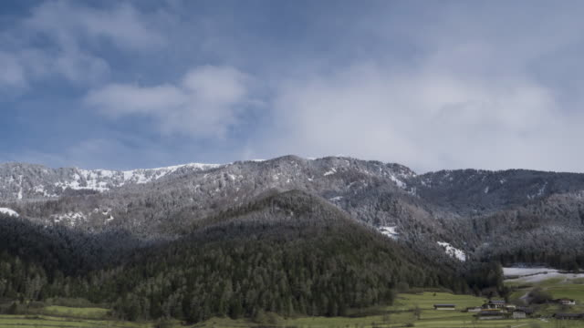 Snow Mountain With Clouds Timelapse