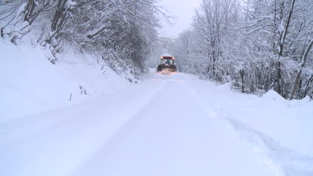 HD: Snow plow on winter road video
