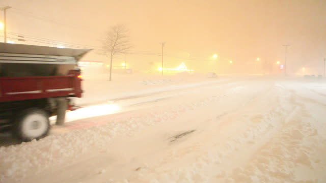 Snow Plow Truck  plowing stock videos & royalty-free footage