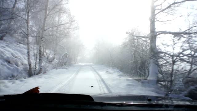 Snow road video