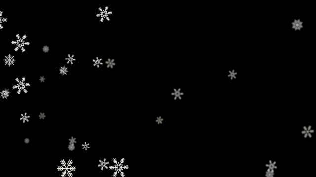 Snow Snowfall Snowflake Particles Loop Black Alpha Green Screen Animation.