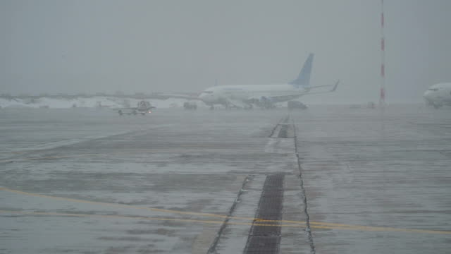 Snow Storm at the Airport video