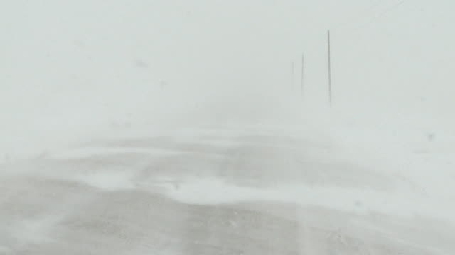Snow storm in country video
